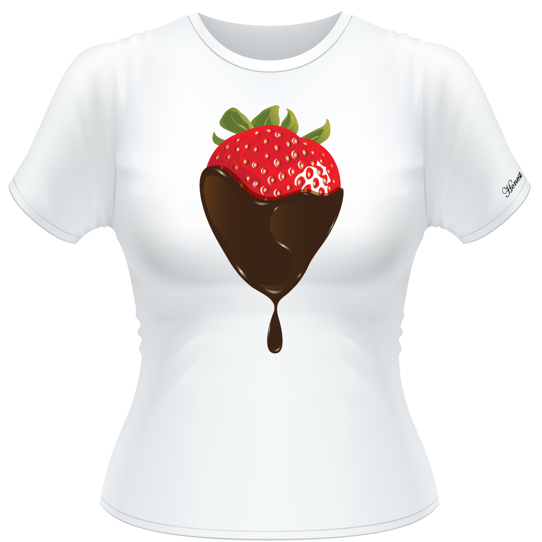 Honest Living Signature Chocolate Strawberry T-Shirt Front